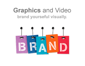 Branding, video and graphic design services.